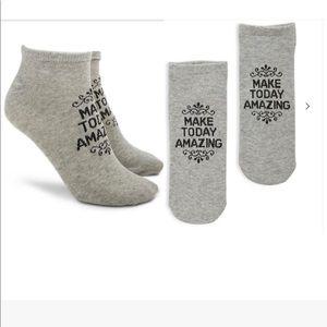 💓3/$15💓MAKE TODAY AMAZING Ankle Socks